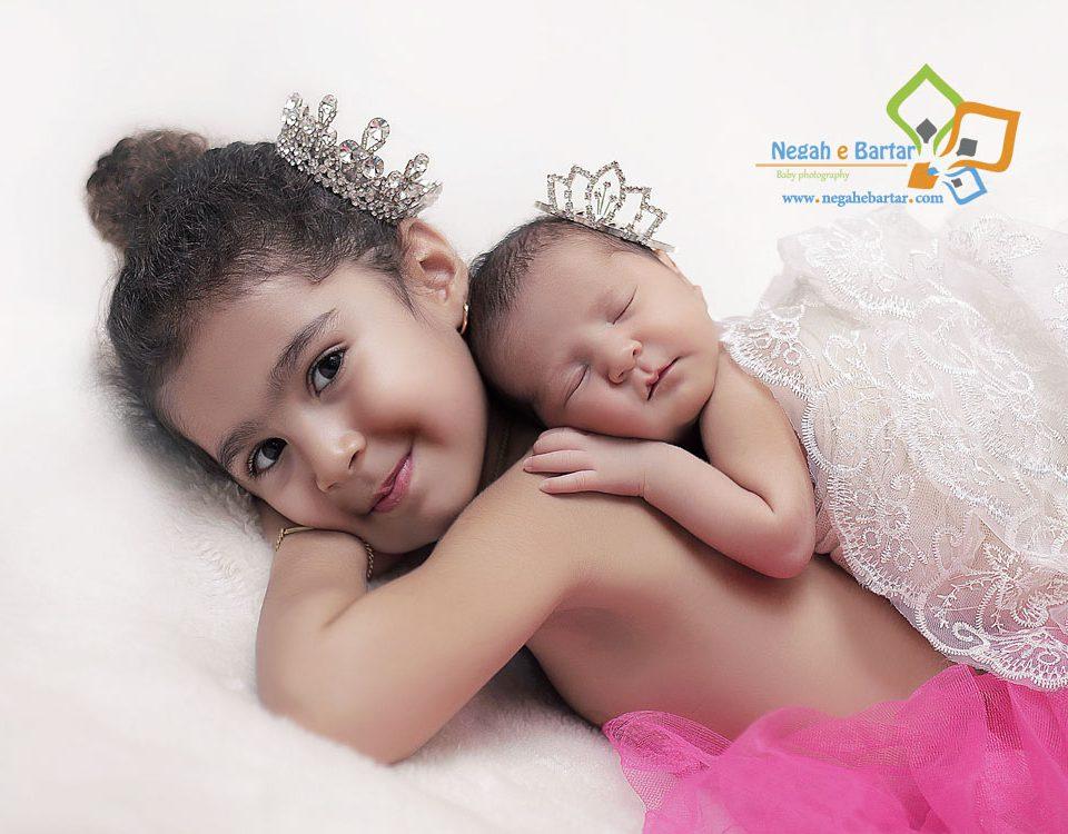 ژست عکس نوزاد